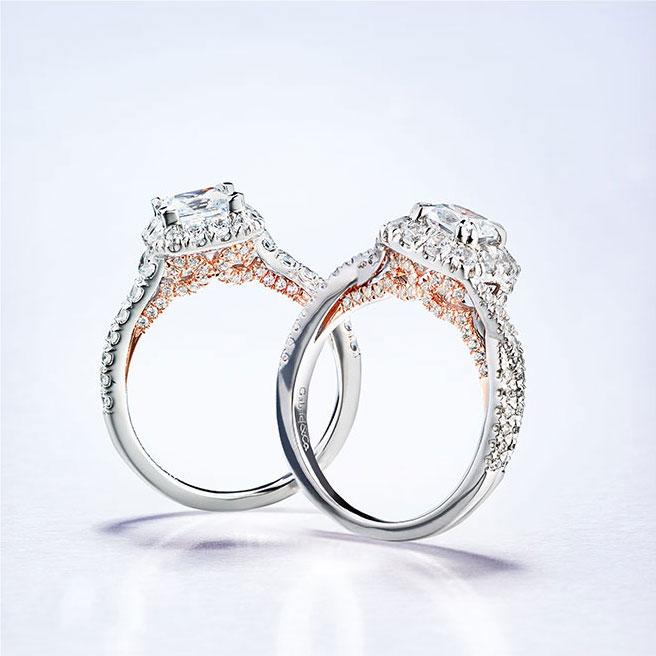 Gabriel & Co Engagement Rings Blush