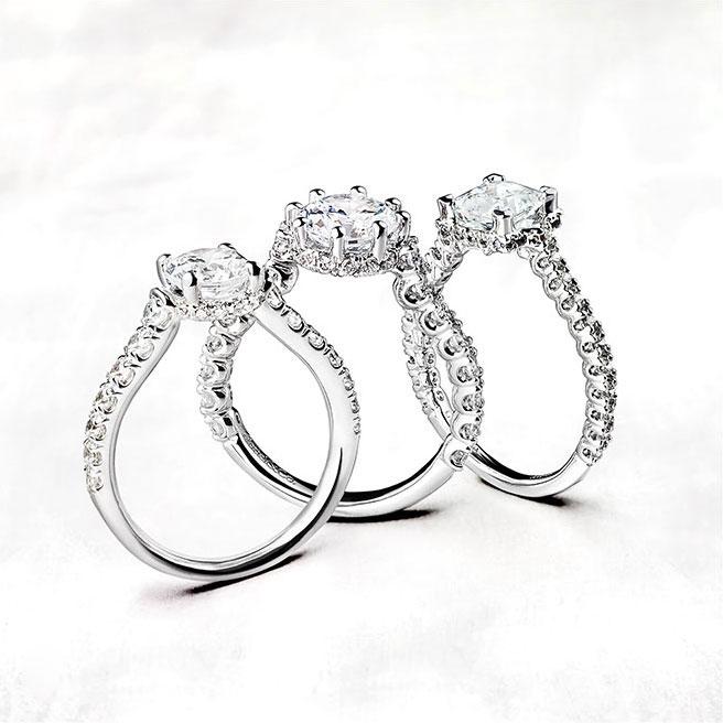Gabriel & Co Engagement Rings Crown