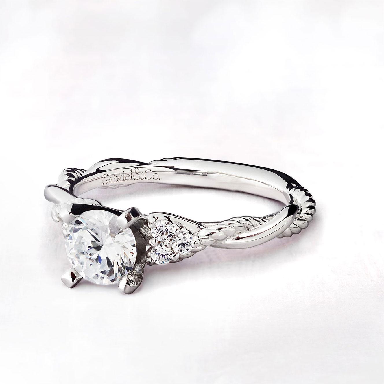 Gabriel & Co Engagement Rings Riata