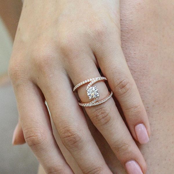 Gabriel & Co Engagement Rings Split Shank